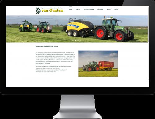 Nieuwe website Fa. van Gaalen